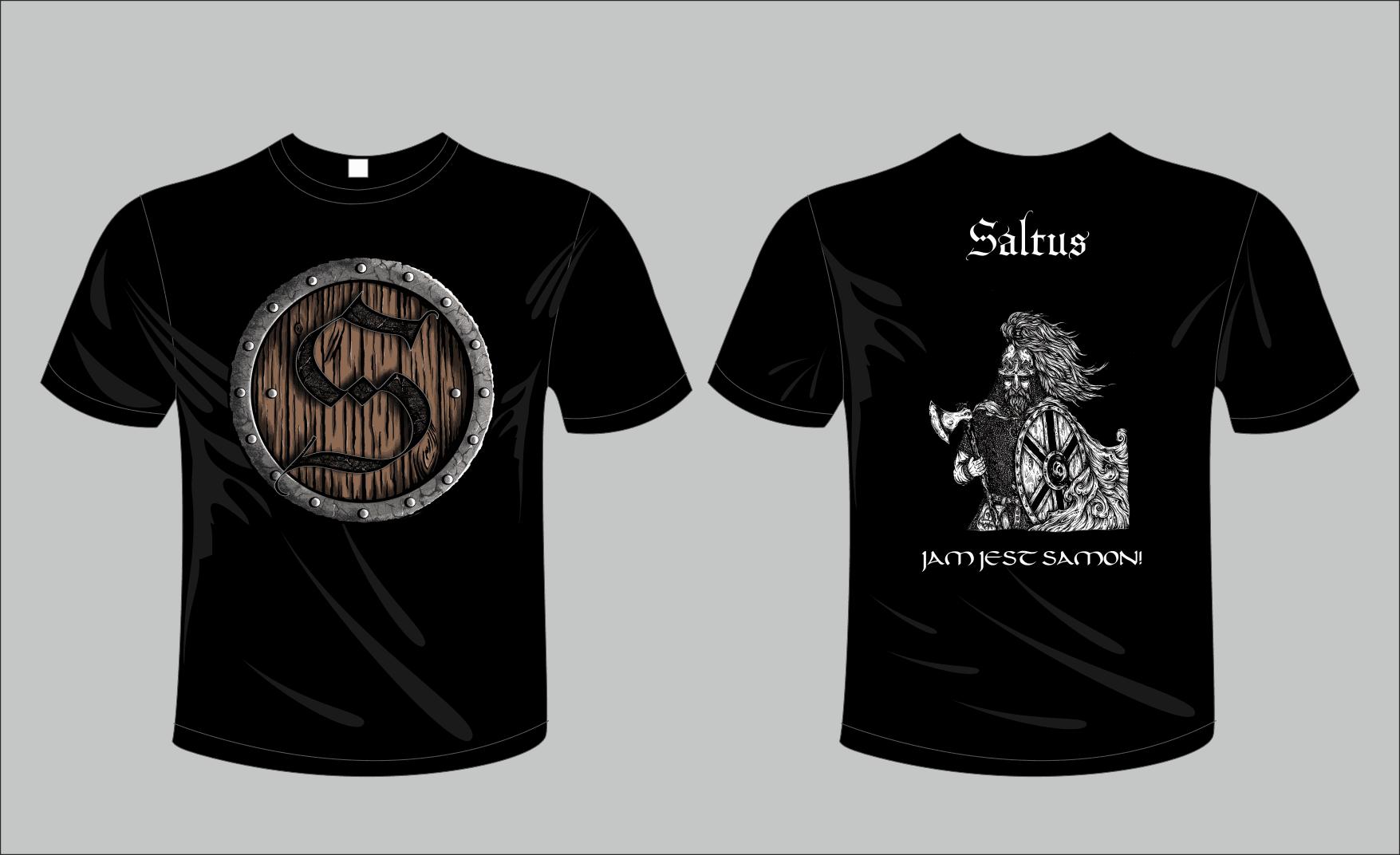 Koszulka Saltus czarna – Jam Jest Samon!