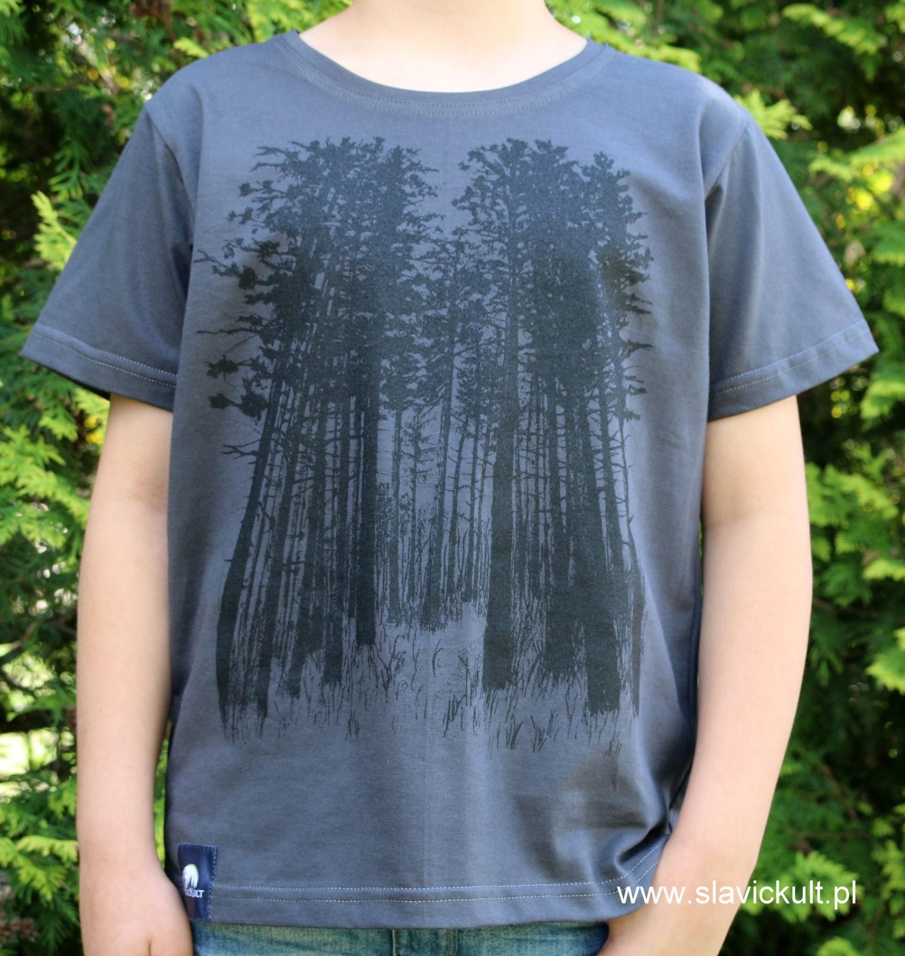 Koszulka Las (Grafit) dla dziecka