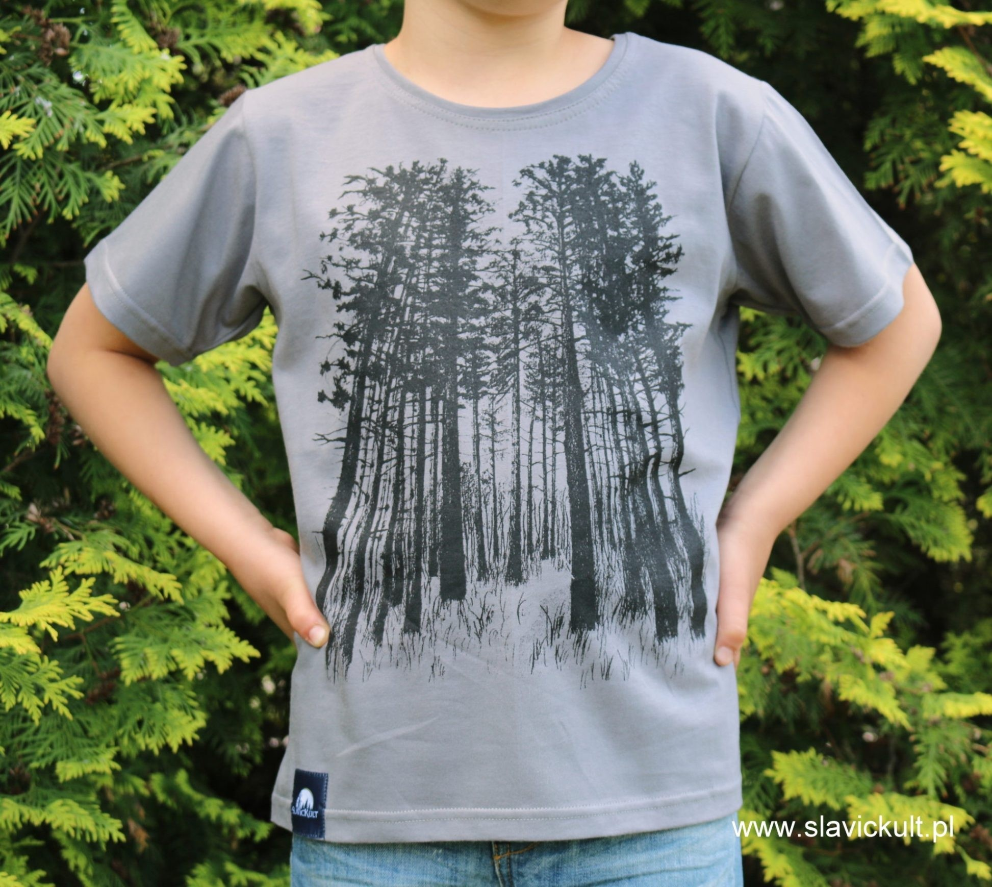 Koszulka Las (Szara) dla dziecka
