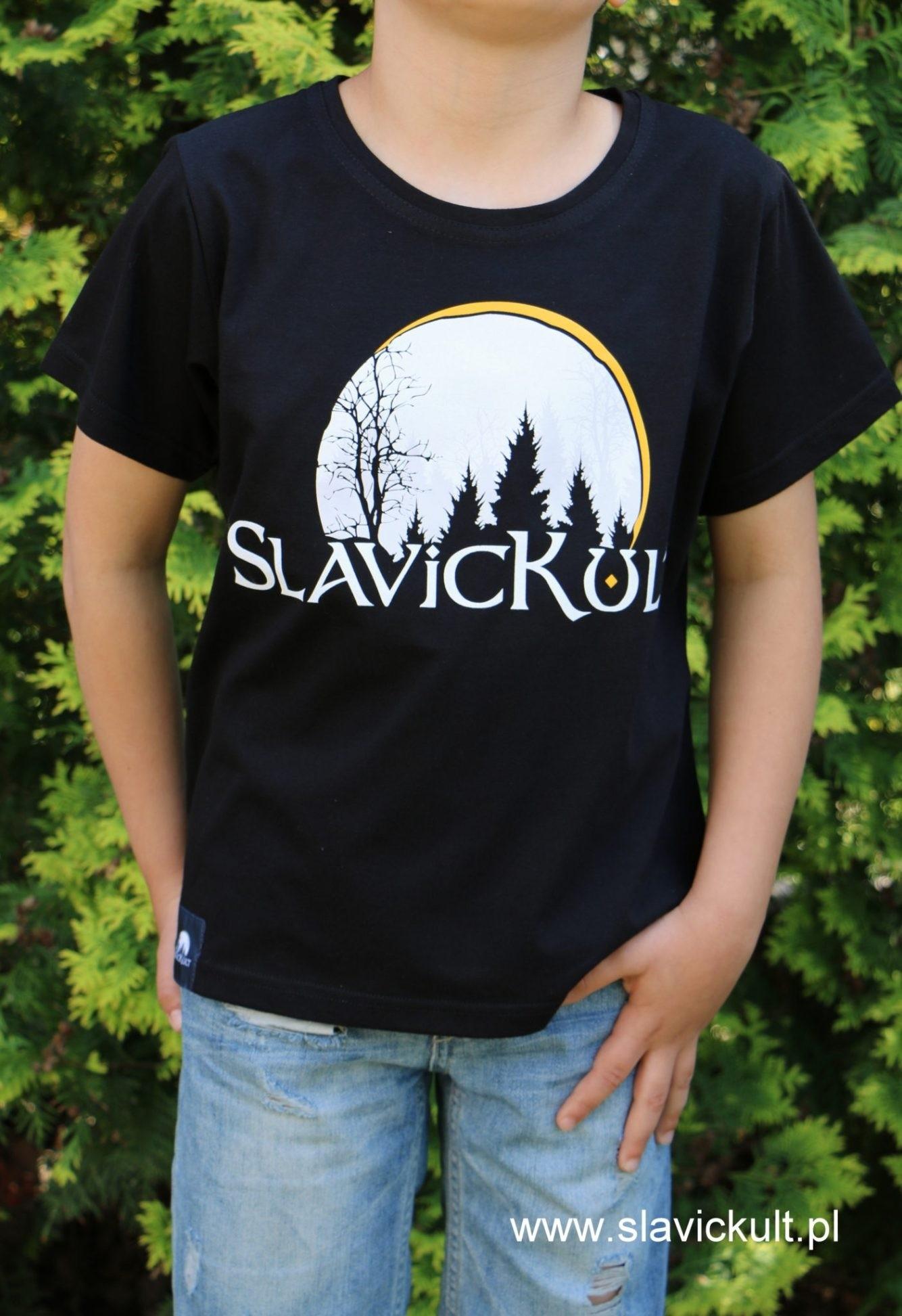 Koszulka Slavickult (Czarna) dla dziecka