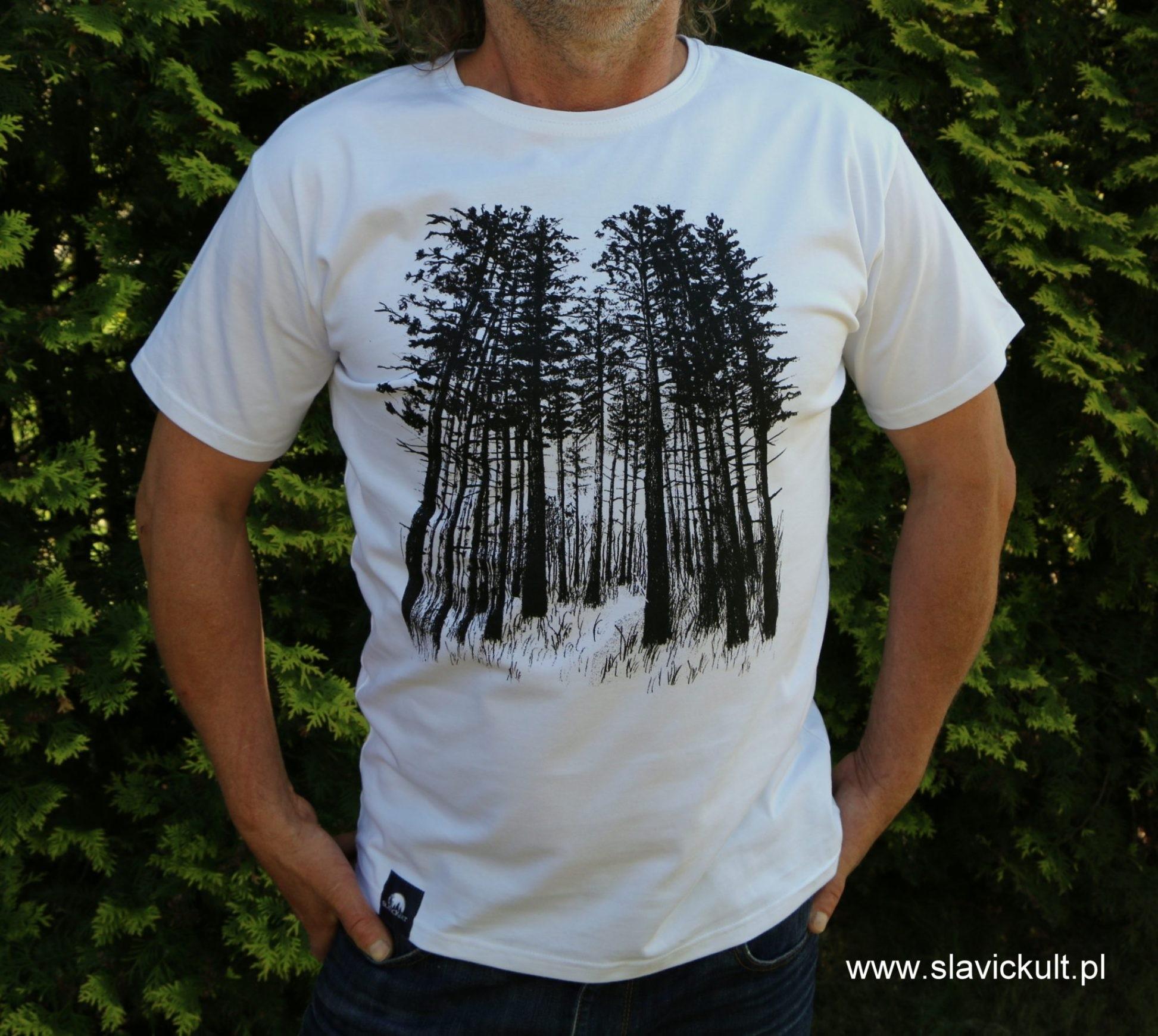 Koszulka Las (Biała) Męska