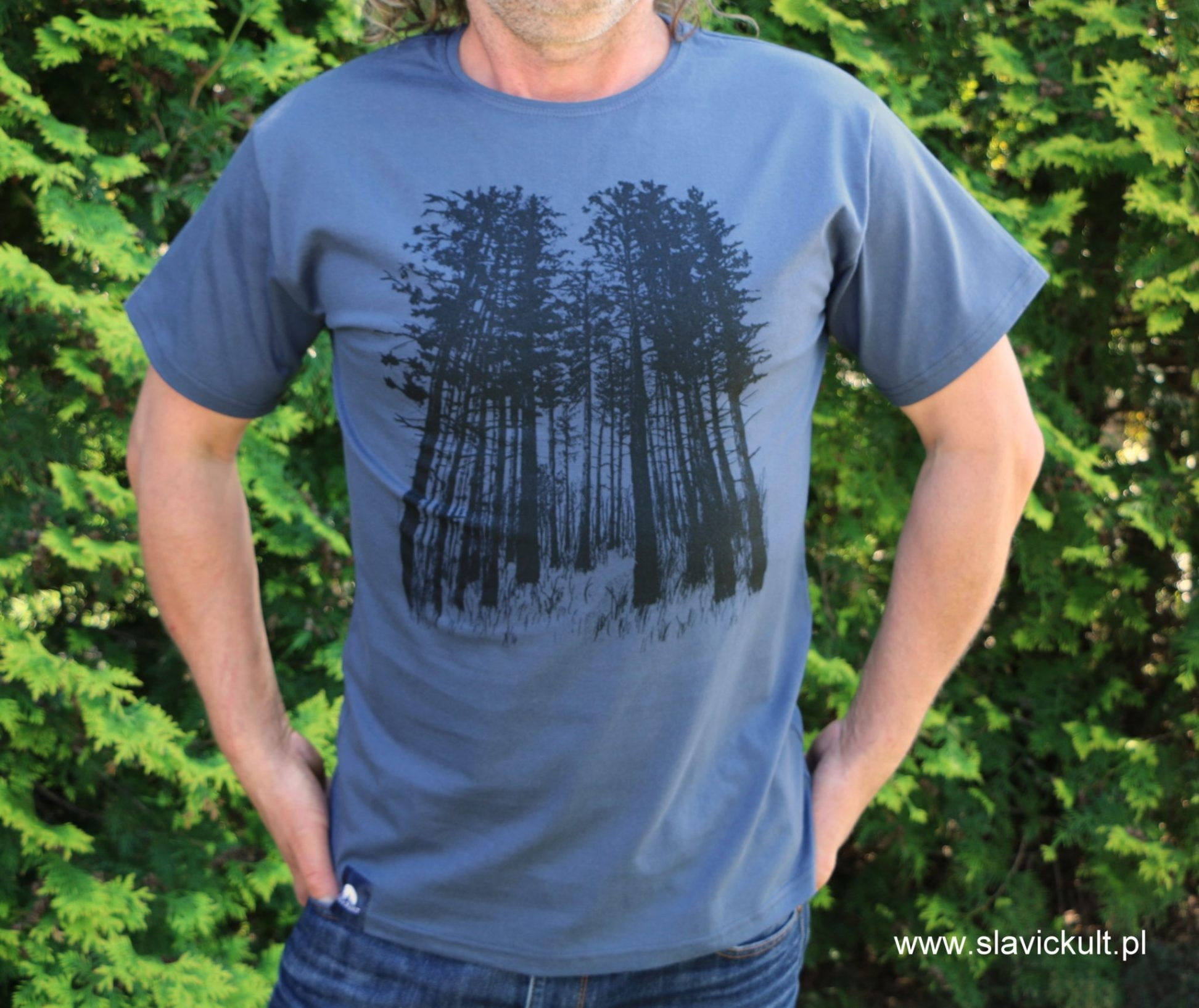Koszulka Las (Indygo) Męska