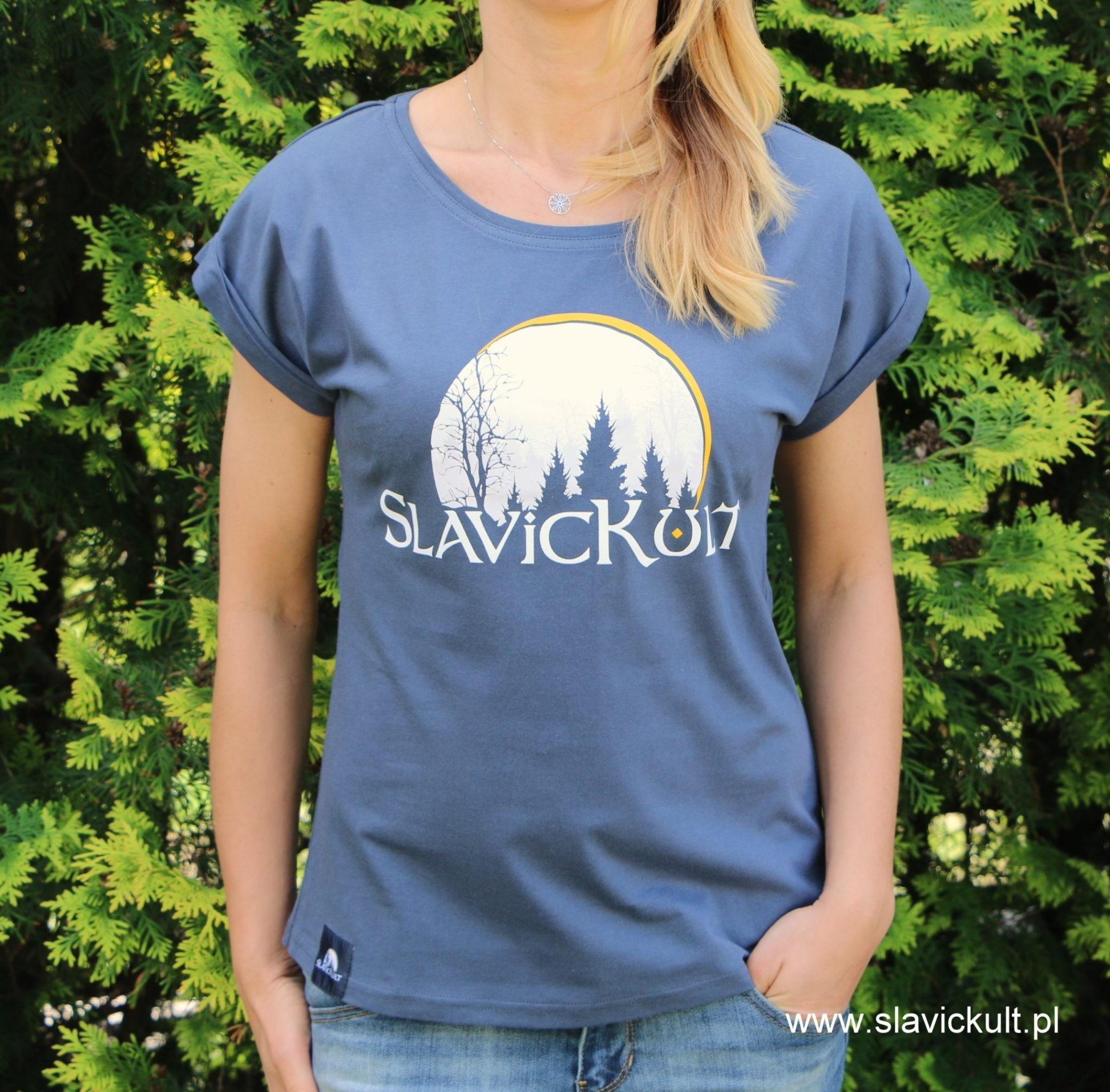 Koszulka Slavickult (Indygo) Damska