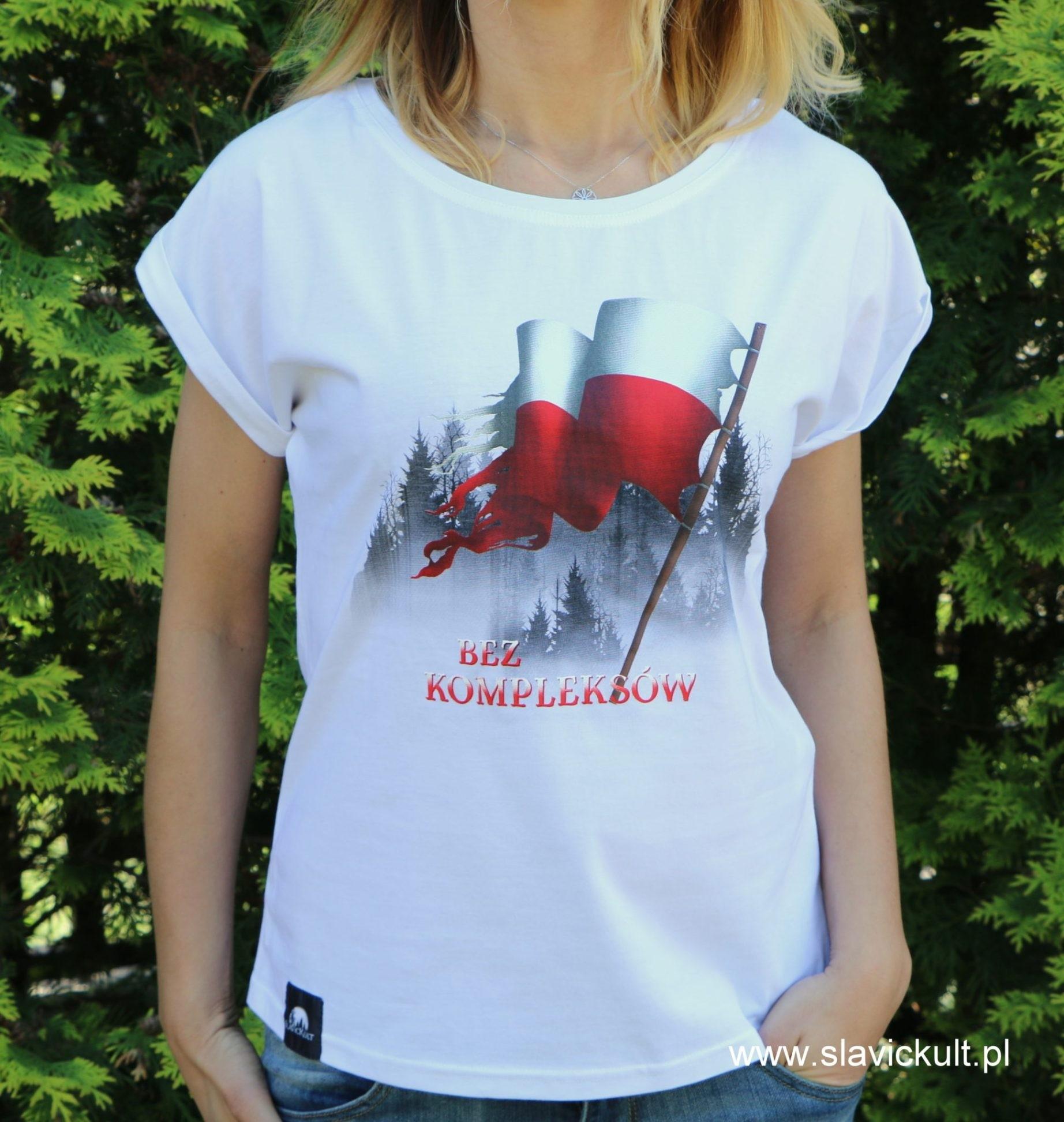 Koszulka Flaga (Biała) - Damska