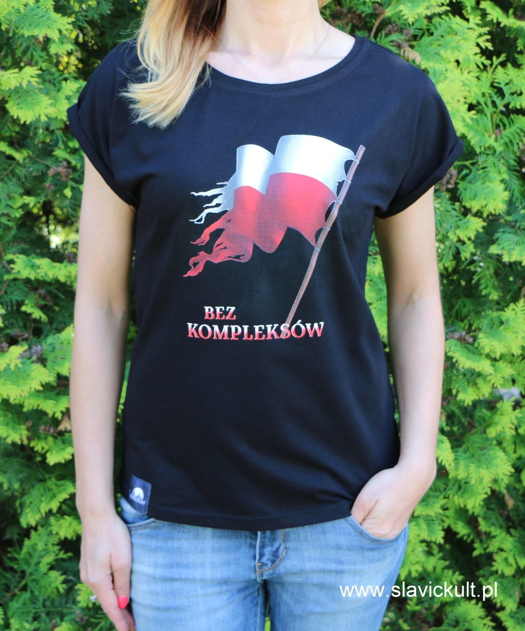Koszulka Flaga (Czarna) - Damska