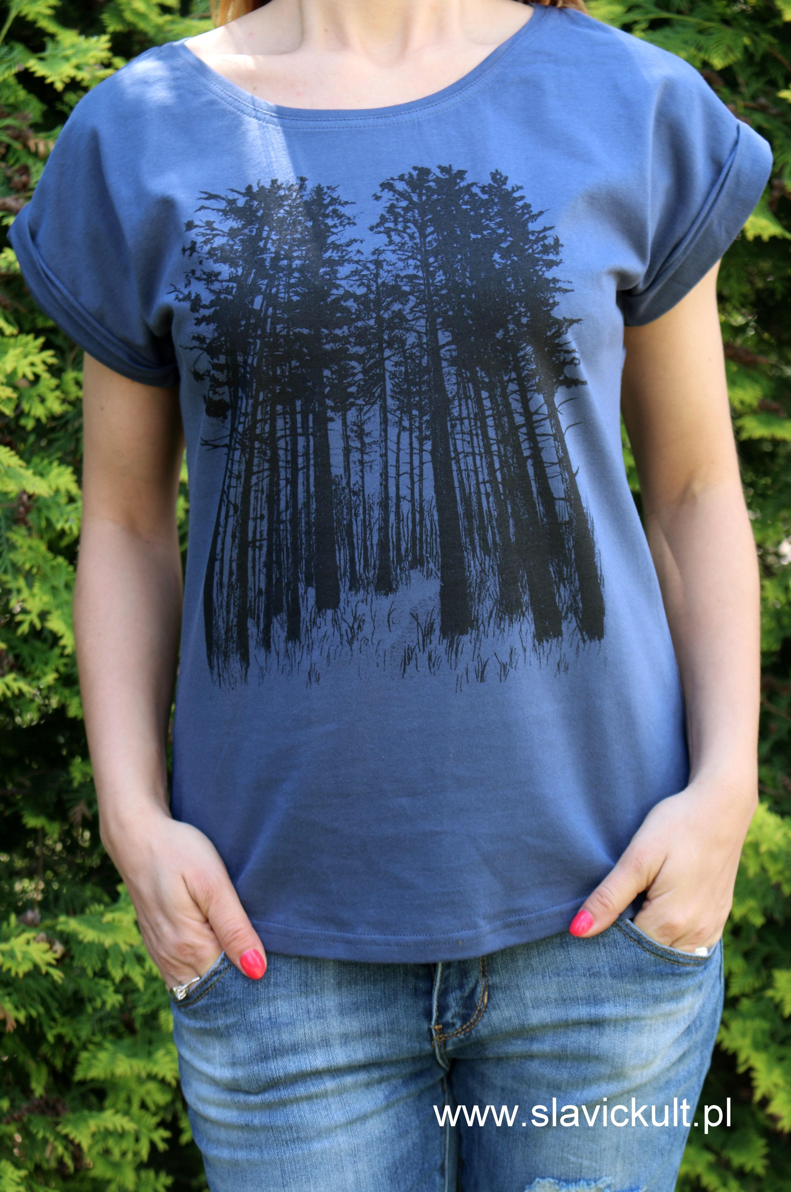 Koszulka Las (Indygo) Damska