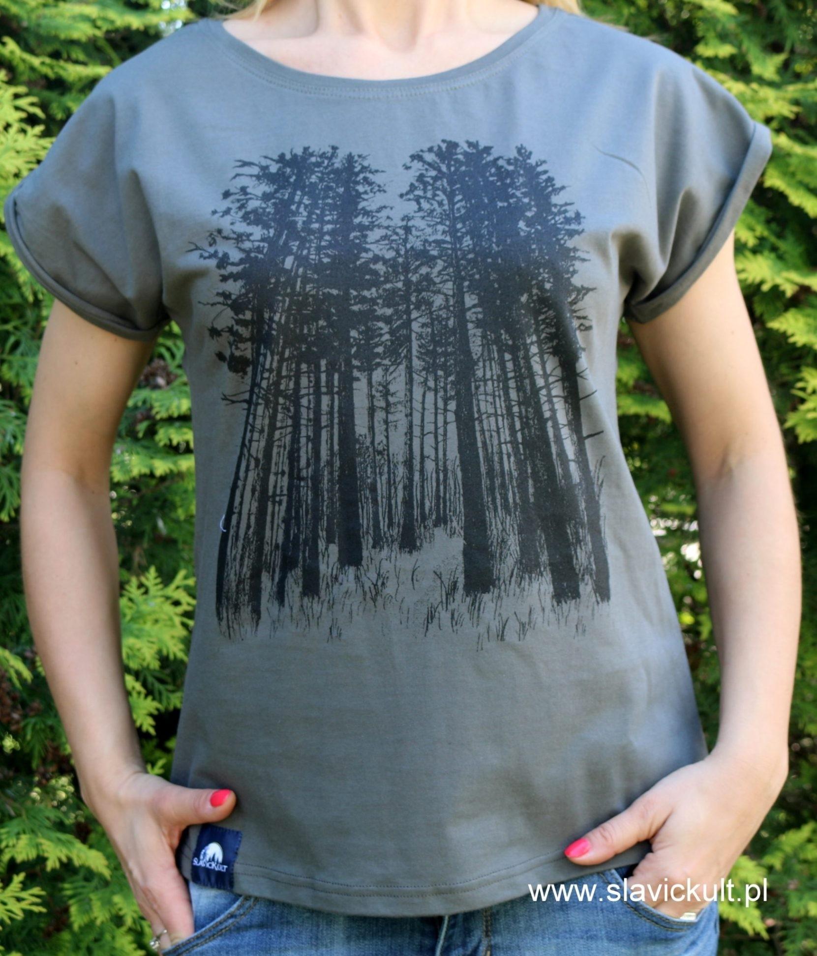 Koszulka Las (Khaki) Damska