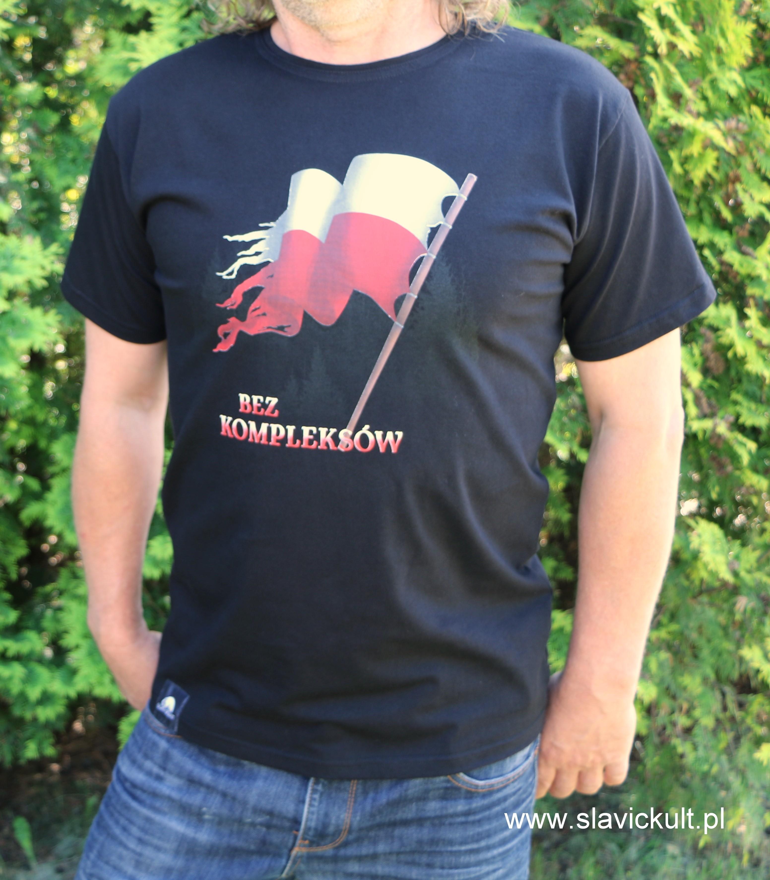 Koszulka Flaga (Czarna) Męska