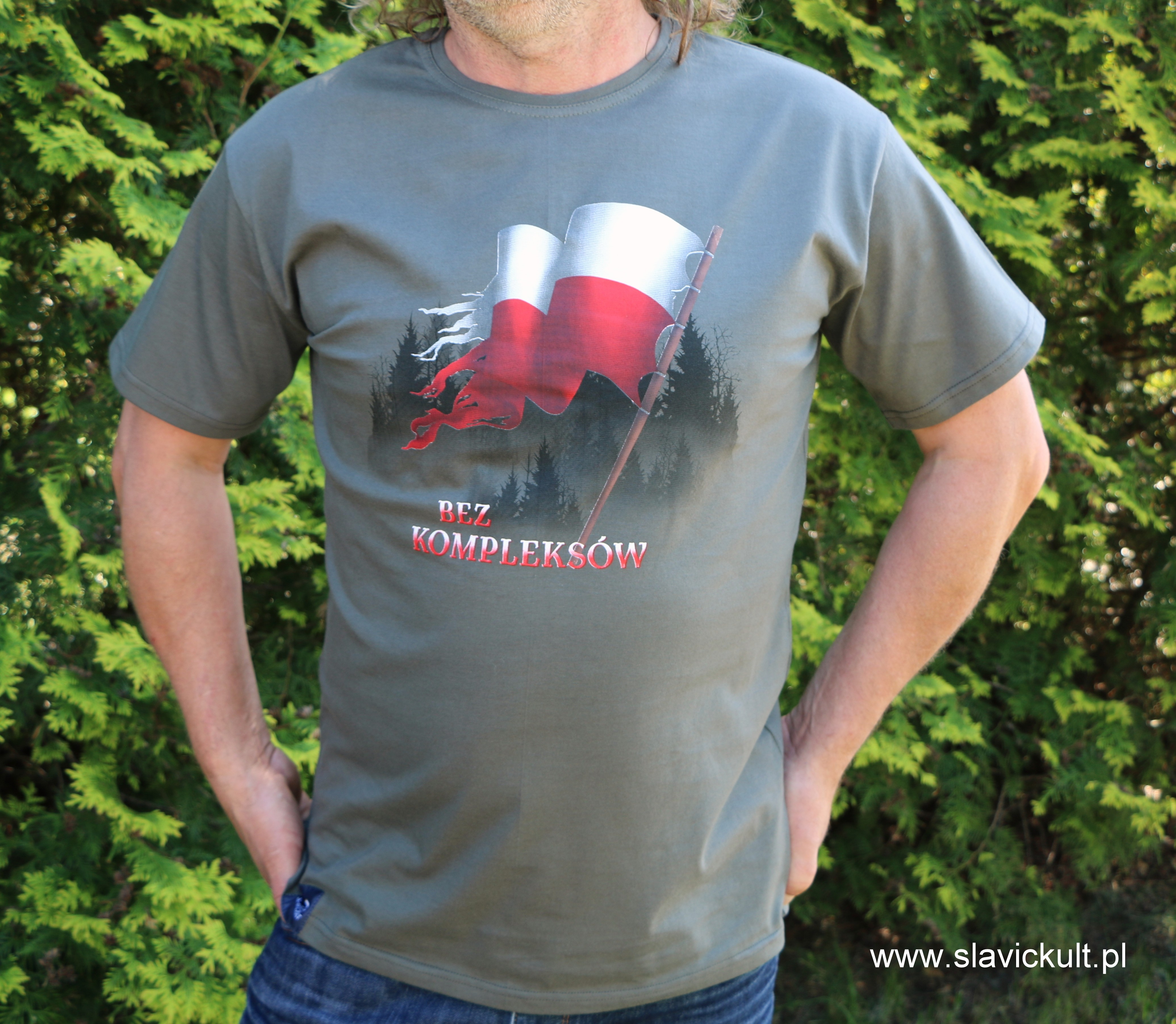 Koszulka Flaga (Khaki) Męska