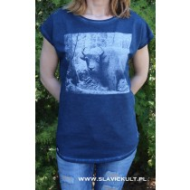 Koszulka Żubr (Granatowa) Damska