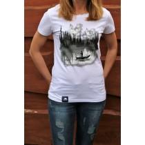 Koszulka Jezioro (Biała) - Damska