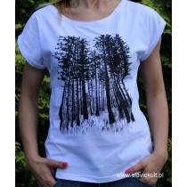 Koszulka Las (Biała) Damska