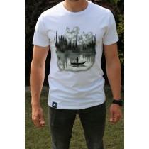 Koszulka Jezioro (Biała) Męska