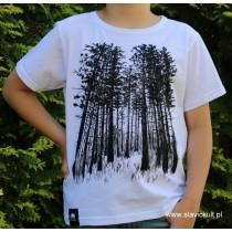Koszulka Las (Biała) dla dziecka